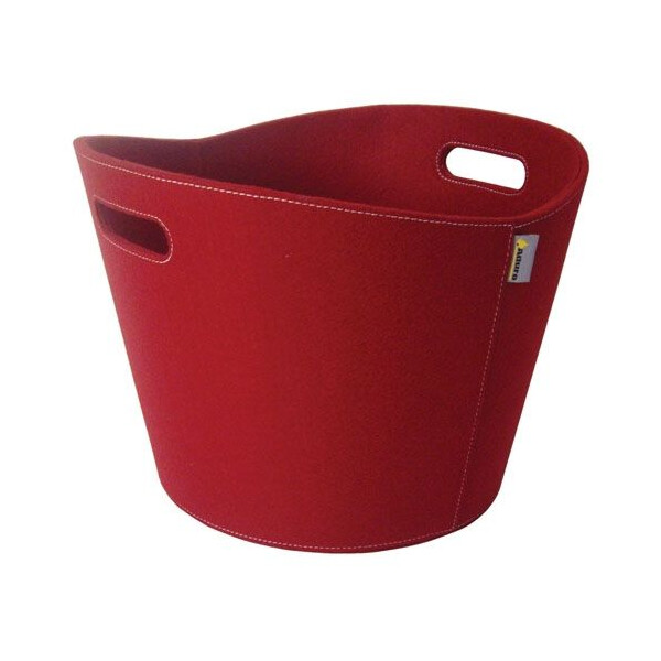 Filzkorb rund, rot
