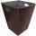 Kunstlederkorb, Eckig braun, 45x45x45 cm