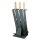 Kaminbesteck 3-teilig anthrazit mit Holzgriffen