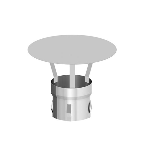 Regenhaube mit Einschub für alle Systeme Edelstahl Ø 130 mm