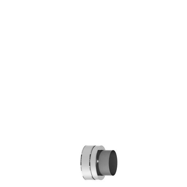Edelstahlschornstein doppelwandig Verbindungskupplung PROFI-plus Edelstahl Ø 130 mm