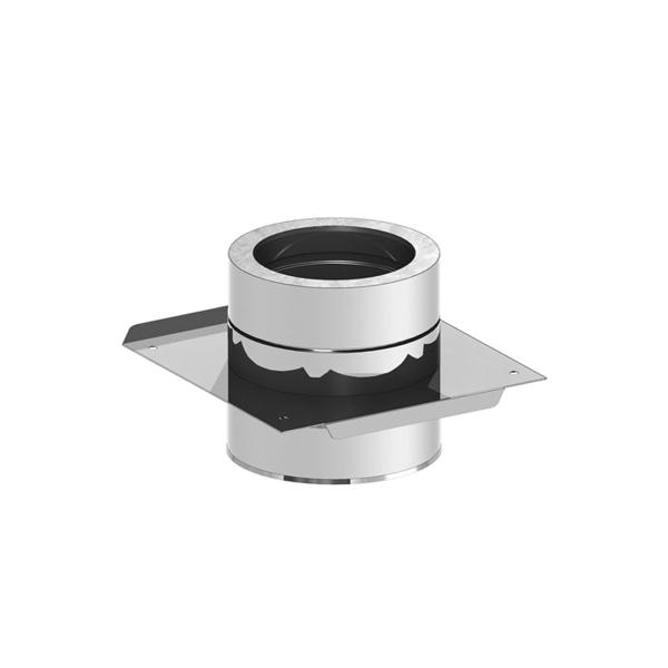 Edelstahlschornstein doppelwandig Grundplatte für Zwischenstütze PROFI-plus Edelstahl Ø 150 mm