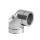 Edelstahlschornstein doppelwandig Winkel 90° mit Revisionsöffnung PROFI-plus Edelstahl Ø 130 mm