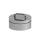 Edelstahlschornstein doppelwandig Verschlussdeckel PROFI-plus Edelstahl Ø 130 mm
