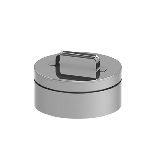 Edelstahlschornstein doppelwandig Verschlussdeckel PROFI-plus Edelstahl Ø 250 mm