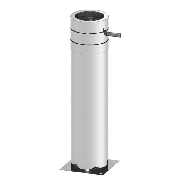 Edelstahlschornstein doppelwandig Teleskopstütze bis 1000 mm kürzbar für PROFI-plus Edelstahl Ø 200 mm