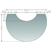 Glas-Vorlegeplatte zu Oranier Polar Neo 4