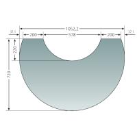 Glas-Vorlegeplatte zu Polar Neo 8, Polar Neo W+ und Polar...