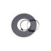 Wandrosette für Aluflexrohr 25mm Isoliert