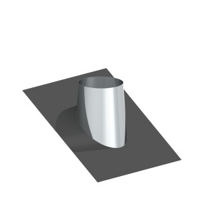 Dacheindichtung matt geschliffen mit Bleiflansch