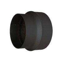 Ofenrohr Erweiterung 120mm auf 150mm, schwarz