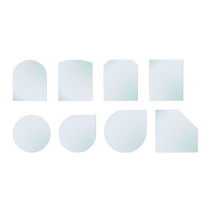 Glasbodenplatte mit Facette 6mm