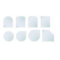Glasbodenplatte mit Facette 8mm