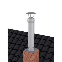 Schornsteinverlängerung mit Regenhaube der PROFI-plus