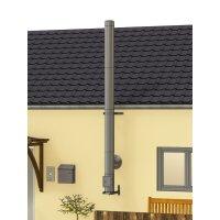 Edelstahlschornstein Bausatz doppelwandig DESIGN 4,30 m