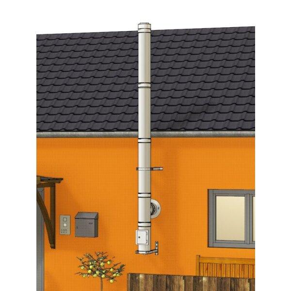 Edelstahlschornstein Bausatz doppelwandig der GÜNSTIGE 4,20 m
