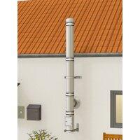 Edelstahlschornstein Bausatz doppelwandig der PROFI 3,30 m