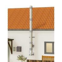Edelstahlschornstein Bausatz doppelwandig der PROFI 4,30 m