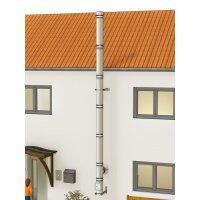 Edelstahlschornstein Bausatz doppelwandig der PROFI 6,30 m