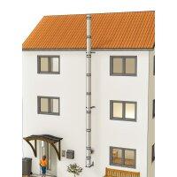 Edelstahlschornstein Bausatz doppelwandig der PROFI 8,30 m