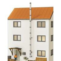 Edelstahlschornstein Bausatz doppelwandig der PROFI 9,30 m