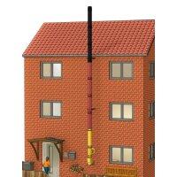 Farbiger doppelwandiger Edelstahlschornstein als Bausatz...
