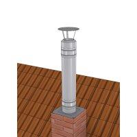 Schornsteinverlängerung mit Regenhaube der PROFI