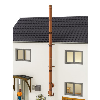 Kupferschornstein Bausatz doppelwandig der PROFI 7,30 m