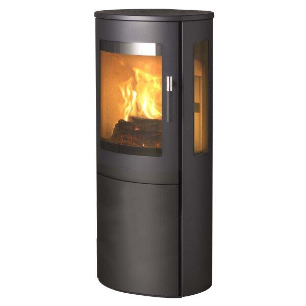 Kaminofen Lotus MIRA 3 schwarz mit Stahlseiten