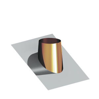 Pappdacheindichtung Kupfer mit Edelstahlflansch