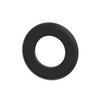 Pelletrohr SlimLine Rosette 35mm schwarz