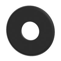 Pelletrohr SlimLine Rosette 70mm schwarz