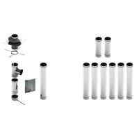 Schornsteinsanierung Edelstahl Bausatz einwandig 0,6mm,...